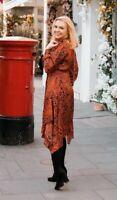 Topshop IDOL Pussybow Paisley Dress - Red - UK12/EU40/US8 NEW