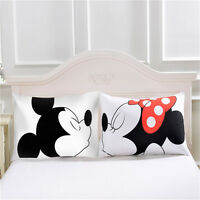 2Pcs Mickey Mouse Pillowcase Birthday Gift Body Pillow Case Cartoon Decorative -