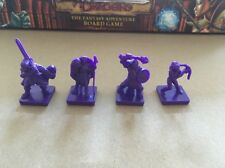 DUNGEONS & DRAGONS THE FANTASY ADVENTURE BOARD GAME - SPARE PARTS PURPLE FIGURES