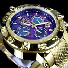 Invicta Subaqua Noma III Purple Abalone Chrono MOP 50mm Gold Plated Watch New