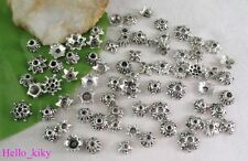 200 pcs Tibetan silver Mixed style Bead Caps M3603