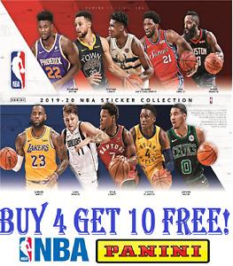 PANINI NBA BASKETBALL STICKER COLLECTION 2019 2020 #1-250 SINGLE STICKERS 19/20