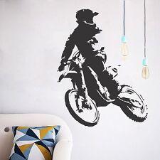 Motorcyclists Motor Motorcycle Boy Wall Decals Vinyl Stickers Mural Decor DIY