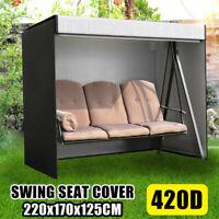 3 Seater Swing Cover Hammock Seat Waterproof Furniture Protector Patio Garden US