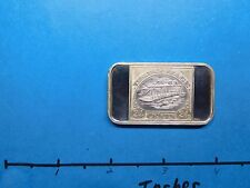 INVERTED JENNY AIRPLANE STAMP COMMEMORATIVE 1973 GREEN DUCK 999 SILVER BAR RARE