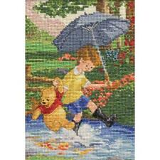 CHRISTOPHER ROBIN & POOH DISNEY DREAMS THOMAS KINKADE CROSS STITCH KIT