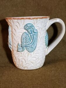 Mermaid Cracker Barrel Mug Ocean Nautical Beach Sea Blue Coffee Tea Cup