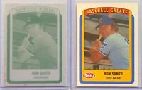 1/1 RON SANTO 1990 SWELL BASEBALL GREATS PRINTING PLATE CARD #64 CHICAGO CUBS 3B