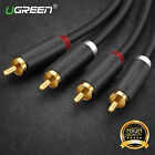UGREEN New 2RCA Male to 2RCA Male Audio Cable For Laptop HDTV DVD VCD Amplifier