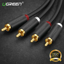 UGREEN 2 RCA Jack Stereo Dual RCA Audio Speaker Male to Male Patch Cable 6FT New