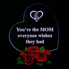 Mothers Day Gift for Mom Heart You're The MOM Everyone Wishes They Had Light New