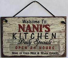Nani's Kitchen Sign 5x8 Grandma Diner House Mom Bake Cook Grand Parent Home