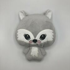 "H&M Gray Fox Plush Stuffed Animal 9"""