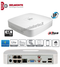 Videoregistratore Dahua NVR 4 canali IP fino a 8Mp alloggia 1 HDD. Ingressi Audi