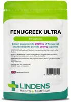 Fenugreek Ultra Seed Extract 2000mg support 60 Capsules Muscle anabolic Lindens