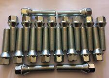 16 x M14X1.5 Nero 60 ° CERCHI IN LEGA BULLONI 4 X LUCCHETTI 25mm PER ALFA ROMEO BRERA