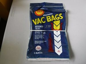 Vacuum Bags Eureka Style F & G DVC Brand Disposable   NEW