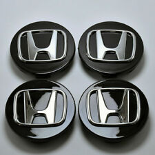 4Pcs Black Wheel Rim Center Cap 69MM Emblem Hub Cover For Honda Civic Accord CRV