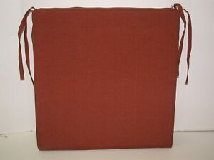 """Resort Spa Outdoor Patio Seat Pad ~ Solid Rust ~ 19"""" x 19"""" x 2"""" **NEW**"""