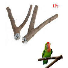 1PC Pet Parrot Raw Wood Fork Stand Rack Toy Branch Perches For Bird Cage