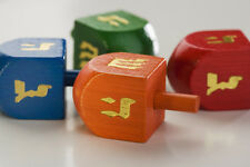 1 Chanukah DREIDEL - - - - Coloured Wood Draidel, Jewish gift Spinning Judaica