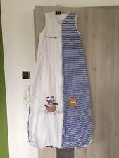 Schlafsack 120cm Blau Gestreift Schlummersack 2,5 Tog Ganzjahresschlafsack