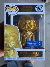Star Wars Funko Pop! Gold Figure Darth Vader #157 Walmart Exclusive MINT Box