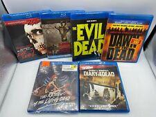 Evil Dead Oop Dawn Of Dead Return Of Living Dead Land Horror Blu Ray Movie Lot