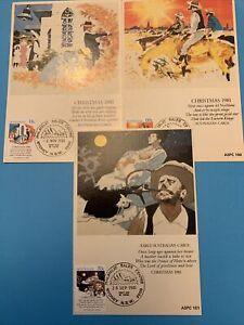 1981 AUSTRALIAN BUSH CHRISTMAS - Maxi Card set of 3  XXX