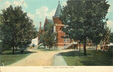 Cambridge OH Dirt Drive Past Lawn Swing to Steps @ Children's Home~1910 Postcard
