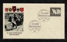 Germany 1965 20 Years Of German Expatriation FDC - Mint 1