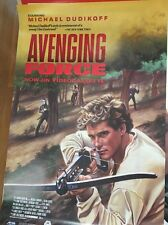 "Vintage Avenging Force  Poster Michael Dudikoff 1986  24""X 36"" MAKE AN OFFER!"