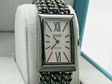 Ecclissi Sterling Silver Multi-Strand Bracelet Watch  Black