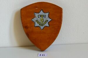 CLEVELAND COUNTY FIRE BRIGADE FIRE SERVICE WOODEN PLAQUE 102mm X 85mm
