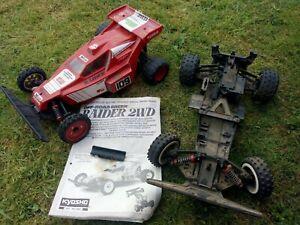 2 X Kyosho Raider ARR vintage RC 1/10 battery 2WD
