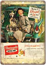 "Rheingold Beer Nancy Woodruff 10"" x 7"" Reproduction Metal Sign E319"