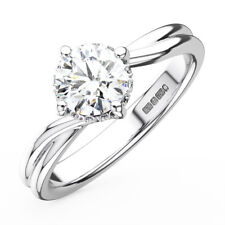 0.30CT Round Diamonds Solitaire Engagement Ring in 9K Gold