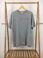 VTG Tommy Hilfiger Men's Spellout Gray Short Sleeve T-Shirt Size L USA