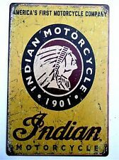 INDIAN MOTORCYCLE (DESIGN 12)  METAL TIN SIGNS vintage cafe pub bar garage bike