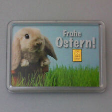 1 Gramm Gold 999,9 + Zertifikat ► 1g Goldbarren ► Geschenk Osterhase Ostern Idee