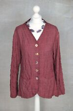 COMPLETO COLLECTION red check loose tunic smock lagenlook MEDIUM