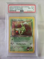 2000 Pokemon Gym Heroes Rocket's Scyther Holo 1st Edition PSA 8
