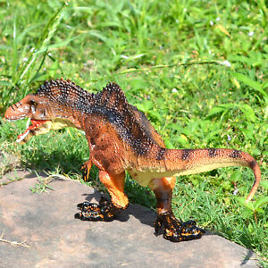 Large Jurassic Acrocanthosaurus Dinosaur Figurine Toy Model Kids Birthday Gift