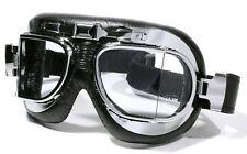 Motorradbrille Brille Fliegerbrille Skibrille Cabrio Oldtimer Chrom Classic TOP