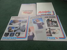 1987 HYUNDAI PONY STELLAR PICKUP ACCESSORIES UK MOTORFAIR PORTFOLIO BROCHURE
