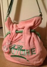 JUICY COUTURE Terrycloth & Leather Tote Beach Cruise SS Juicy Couture Nautical
