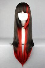 Cosplay Costume Wigs 70cm long Harajuku lolita Girls Anime Hair Red and Black