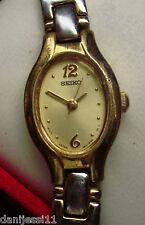 Reloj marca Seiko para señora, correa de acero inoxidable