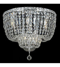 "Palace 5th Ave 10 light 20"" Crystal Flush Mount Ceiling light Chrome Fixture"
