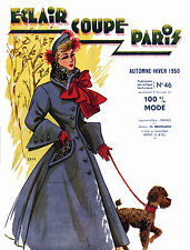 1950 Fall Eclair Coupe Paris Pattern Book Reprint